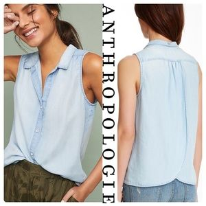 Anthropologie Cloth & Stone Tulip Open Back Top